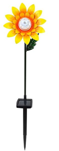 Rotating Solar LED Sunflower Stake