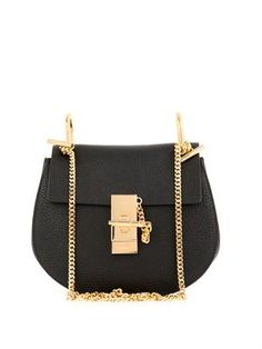4980bcca055 Drew small leather shoulder bag Classic Day Bag in Black Chloe Bag,  Beautiful Handbags,