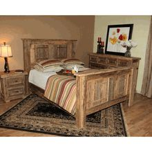 Reclaimed Wood Furniture  Black Mountain Barnwood Bed  Home Amusing Barn Wood Bedroom Furniture Design Ideas