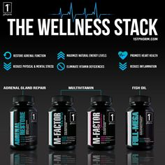 Being healthy starts at the foundation and having the proper nutrients creates a rock solid base for you to build on. This stack will fortify your wellness foundation and make everything you build on it as effective, efficient and strong as possible. #1stphorm #legionofboom #neversettle #fitness #supplements