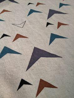 LOOM print handprinted on Linen/Rayon fabric #fabric #handprinted #linen #rayon