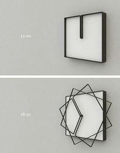 horloge originale idee deco home maison How cool is this clock? Cadre Design, Cool Clocks, Cool Inventions, Future Inventions, Deco Design, Design Design, Design Trends, Home And Deco, Cool Gadgets