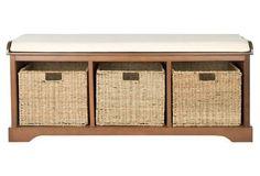 Adair Storage Bench, Brown