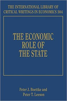 The Economic Role of the State. Edward Elgar Research Review (EBOOK) FULLTEXT: http://www.elgaronline.com/view/Research_Reviews/9781843763123/9781843763123.xml>.