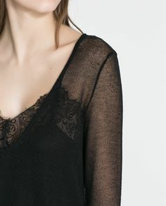 ZARA - NEW COLLECTION - SWEATER WITH LACE