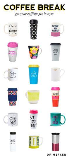 For Your Caffeine Fix: 18 Stylish Coffee Mugs