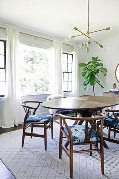 hunted interior: #ProjectFamJam Dining Room Reveal featuring the Mobile chandelier from west elm!