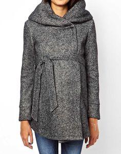 Image 3 ofNew Look Maternity Snood Coat
