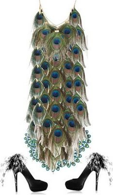 Peacock dress. Let's not discuss the amount of weight I would have to lose in…
