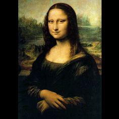 """""""La Gioconda"""" (1503). LEONARDO DA VINCI (1452 - 1519). Artista RENACENTISTA italiano. Durante los siglos XV y XVI, la Naturaleza deja de ser un lugar horrible para convertirse en un lugar agradable (locus amenus). Sin embargo la pintura renacentista centra su atención en """"el hombre"""". Este antropocentrismo da lugar a que sea entonces cuando surja el RETRATO como género autónomo. Y en él, el paisaje, tal y como vemos en esta obra, se convierte en un mero """"FONDO""""."""