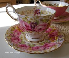 Serena Tea Cup ~ Rose Chintz Cottage: A Pink Tea Time Tuesday for Breast Cancer Awareness