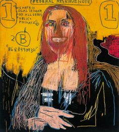 Mona Lisa, 1983, by John Michel Basquiat, mixed media on canvas, [no dimensions], Private Collection.
