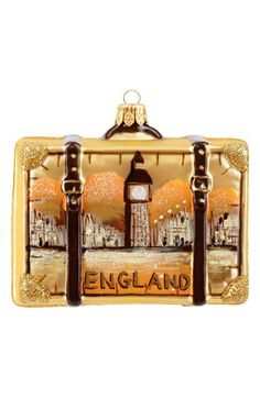Nordstrom at Home 'England' Glass Suitcase Ornament | Nordstrom