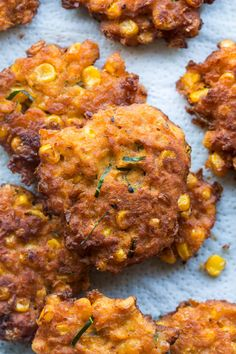 Vegan Thai corn fritters - Lazy Cat Kitchen These Sweet Corn Fritters Are Crisp And Golden On The Outside, And Warm And Soft On The Inside. They Taste Like Delicious Balls Of Cornbread Heaven! . Vegan Corn Fritters, Sweet Corn Fritters, Thai Corn Fritters Recipe, Easy Chinese Recipes, Asian Recipes, Healthy Recipes, Healthy Breakfasts, Thai Recipes, Curry Recipes
