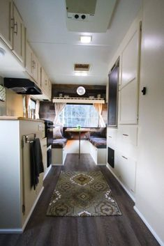 Camper Makeover Ideas You Need To See. There are lots of ways to customize, renovate and fix your camper whether it's old or new. If you want to remain informed about our camper remodel, ha. Best Travel Trailers, Travel Trailer Remodel, Camper Interior Design, Rv Interior, Interior Ideas, Trailer Interior, Motorhome Interior, Campervan Interior, Rv Campers