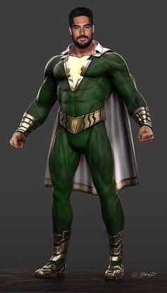 Comic Character, Character Design, Captain Marvel Shazam, Dc World, Superhero Design, Fantasy Comics, Dc Comics Characters, Dc Movies, Dc Universe