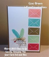Our March 2015 Class to Go features the beautiful Lovely Amazing You Photopolymer set from Stampin' Up!  Click through for details! www.inkandinspirations.com