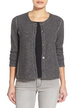 53e5b43317 Eileen Fisher Organic Linen  amp  Cotton Crewneck Cardigan available at   Nordstrom Eileen Fisher