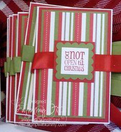 Gift card holders using Tags til Christmas.