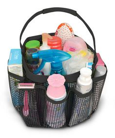 Pro Mart Black Seven Compartment Pop Up Shower Caddy