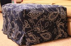 I so need the directions for making this ottoman slip cover.  If you try it first, let me know how it goes.