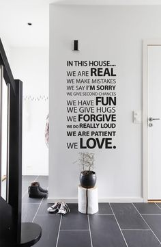 In this house wall sticker by Vinyl Impression