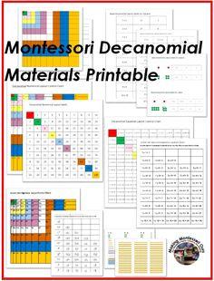 Montessori Decanomial Layout : very involved, $6.99