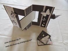 ABC du Scrap: Tuto carte pivotante Fun Fold Cards, Pop Up Cards, Folded Cards, Carte Swing, Arte Pop Up, Tarjetas Pop Up, Mini Albums Scrap, Step Cards, Mothers Day Cards