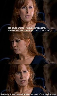 Describing Doctor Who in two sentences: you're doing it right. Donna Noble everyone