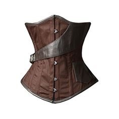 Camellias Brown Underbust Steampunk Airship Waist Training Corset ($43) ❤ liked on Polyvore featuring corsets