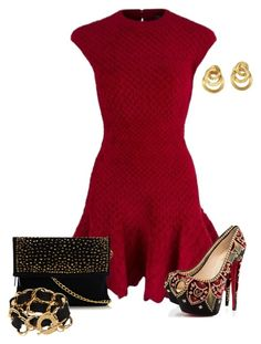 """Untitled #377"" by sherri40 ❤ liked on Polyvore featuring Alexander McQueen, Christian Louboutin, Oasis, CC SKYE and Marco Bicego"