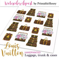 Louis Vuitton clipart Planner clipart hand by PrintableHenry