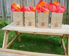 Camping Party Favor Bags 12 Count Lumberjack Party by SamsSweetArt