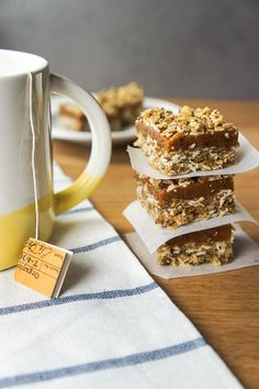 These gluten free date bars are the perfect travel companion. No added sugar, and full of healthy ingredients.