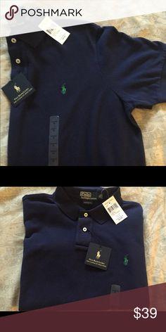 Polo navy blue shirt sleeve shirt NWT- polo custom fit mesh shirt Polo by Ralph Lauren Shirts Tees - Short Sleeve