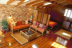 small studio apartments interior decorating ideas with wooden sofa furniture