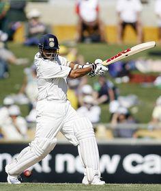 Sachin Tendulkar cuts during his 71, Australia v India, 3rd Test, Perth, 1st day, January 16, 2008  200th.in