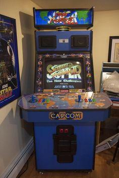 Super Street Fighter II big blue cabinet arcade machine!