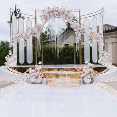 Backdrop Decorations, Wedding Ceremony Decorations, Backdrops, Stage Design, Event Design, Party Planning, Wedding Events, Backyard, Outdoor Structures