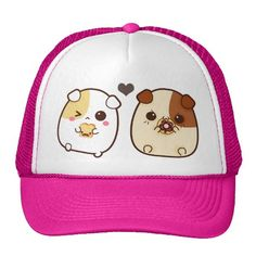 Kawaii guinea pigs hat http://www.zazzle.com/kawaii_guinea_pigs_hat-148207579015191705?color=white_hot_pink&rf=238205274887202706