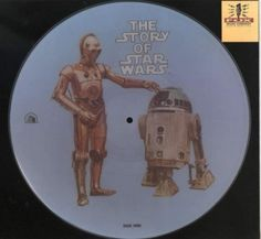 "Star Wars  ""The Story of Star Wars"" 20th Century Fox Records PR 103 12"" Vinyl Picture Disc (1972) R2D2 C3PO Side 1 #StarWars #HanSolo #LukeSkywalker #DarthVader #C3PO #R2D2"