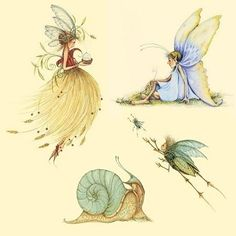 Patience Brewster illustrations by vladtodd Magical Creatures, Fantasy Creatures, Art And Illustration, Fairy Paintings, Kobold, Elves And Fairies, Flower Fairies, Fairy Art, Illustrators