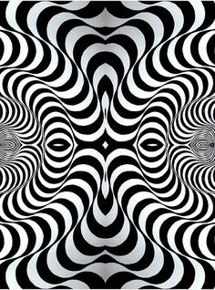 Op Art by Bridget Riley, 50 years celebrated.and along came all the op art fabric. Illusion Kunst, Illusion Art, Psychedelic Art, Bridget Riley Op Art, Opt Art, Principles Of Design, Art Abstrait, Geometric Art, Geometric Patterns