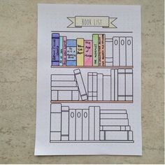 Bullet Journal - Bookshelf - Books - Reading - Printable - Template - - - US letter Extra Bullet Journal Pages Book Reading by Bullet Journal Tracker, Bullet Journal Inspo, Bullet Journal Bookshelf, Bullet Journal Page, Bullet Journal Writing, Bullet Journal Aesthetic, Bullet Journal School, Bullet Journal Spread, Journal Pages