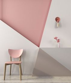 Geometric pattern for wall decoration Pink Paint Colors, Behr Colors, Room Colors, Wall Colors, House Colors, Sophisticated Bedroom, Deco Rose, Bedroom Decor, Wall Decor
