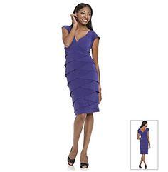 Marina V-Neck Dress With Tiered Skirt. Dress for Mom