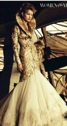 Natalia Vodianova in Alexander McQueen for Harper's Bazaar UK   cynthia reccord
