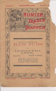 Free Vintage Clipart, Vintage Magazine Ads and Vintage Artwork Perfect for Home & Man-Cave Decor: Rare 1902 Vintage Magazine Cover: Hunter, Trader & Trapper - Free to use on your website or blog