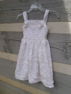 Girls vintage chenille dress