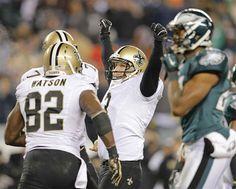 Shayne Graham 3, Kicker for  New Orleans, boots Saints past Philadelphia Eagles, 26-24.